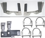 1964 - 1972 Chevelle Exhaust Hanger Kit for Muffler and Tail Pipes Includes 4 Clamps, Stainless Steel