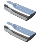 "1969 - 1972 Chevelle Stainless Exhaust Extensions Tips, 2-1/2"" Inside Diameter, Pair"