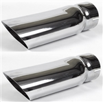 "1969 - 1972 Chevelle Exhaust Extensions Tips 3"" Diameter, Pair"