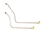 1966 Chevelle Fuel Line Pump To Carburetor Line, 396 w/ Quadrajet, Choose Original Material or Stainless Steel