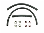 1964 - 1972 Nova Fuel Gas Hoses Set, 3/8 Inch, 1/4 Inch Return, Clamps Included