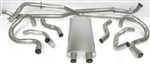 "1968 - 1969 Nova Factory Style 2-1/4"" Transverse Big Block Exhaust System, Without Resonators"