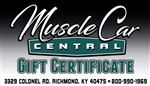 """Muscle Car Central"" Gift Certificate / Gift Card"