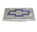 License Plate, Genuine Chevrolet with Bow Tie Logo