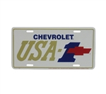 License Plate, Chevrolet USA-1 with Bow Tie Logo