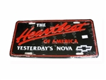 "License Plate, ""The Heartbeat of America Yesterdays Nova"""