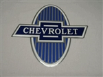 Chevrolet metal sign, Bowtie Blue,  Measures 24 inches X 24 inches