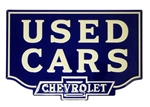 Chevrolet Sign, USED CARS - CHEVROLET 23.5 Inch x 15.5 Inch