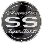 Chevy SS Super Sport Large ROUND Parking Metal Tin Sign