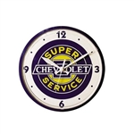 Wall Clock, CHEVROLET SUPER SERVICE CLOCK