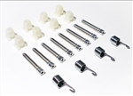 1964 - 1967 Chevelle Headlamp Adjuster Kit, Plastic and Screws for 4 Lamps, Kit