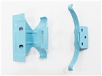 1964 - 1979 Chevelle / Nova Heater Core Mounting Clips Set, Small Block Correct Blue
