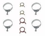 1962 - 1968 Nova Heater Hose and Radiator Hose Clamps Set, 8 Pieces