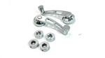 Custom Chrome Aluminum Inner Window Crank Handles, Pair