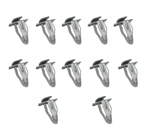 1966 - 1974 Chevelle Door Panel Clips Set, L-Style, Metal, 12 Pieces