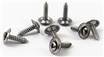 1966 - 1972 Chevelle Door Panel Screws Set, Lower, Chrome, 8 Pieces