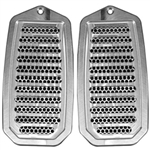 1970 - 1972 Chevelle Custom Billet Aluminum Door Jamb Louver Vents, Choice of Finish