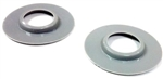 1964 - 1972 Chevelle and Nova Window Crank Handle Washer / Escutcheons, Door Panel Protection, Correct Gray Plastic, Pair