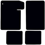 1964 - 1967 Chevelle Carpeted Floor Mats Set, Front and Rear