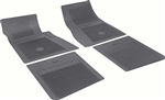 1964 - 1972 Chevelle Floor Mats Set with Bowtie, OE Style, Black
