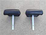 1968 - 1972 BENCH SEAT Headrest Assemblies, Pair GM Used