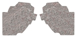 1968 - 1972 Chevelle Kick Panel Insulation Pads, Pre-Cut, Pair
