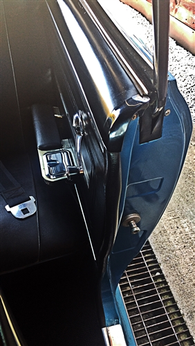 1966 1967 Chevelle Door Jamb Upper Windlace End Caps Black Pair