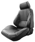 1968 Chevelle Pro Touring II Reclining Front Bucket Seat Assemblies, Procar Standard Interior Pattern, PAIR