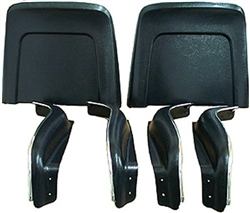 1966 Chevelle Bucket Seat Trim Panels, Bottom and Back, 6 Piece Set