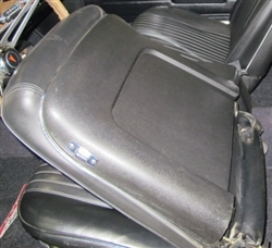 1968 Chevelle Bucket Seat Back Trim Panels, Pair Black