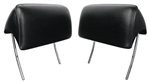 1966 - 1967 Chevelle Headrest Assemblies, Black Pair