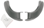 1966 - 1972 Chevelle Bench Seat Hinge Plastic Covers with Special Mounting Button Clips, Pair