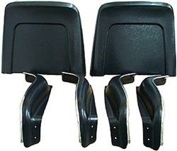 1968 Chevelle Bucket Seat Trim Panels, Bottom and Back, 6 Piece Set