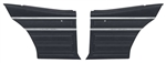 1968 Nova Rear Side Panels Set, SS or Custom Interior, Pre-Assembled Pair