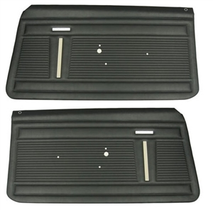 1968 Nova Door Panels Set, Standard Interior, Front, Pre-Assembled, Pair