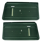 1969 - 1970 Nova Door Panels Set, Standard Interior, Front, Pre-Assembled, Pair