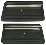 1969 Nova Door Panels Set, Custom Interior, Front, Pre-Assembled, Pair