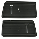 1971 - 1972 Nova Door Panels Set, Standard Interior, Front, Pre-Assembled, Pair