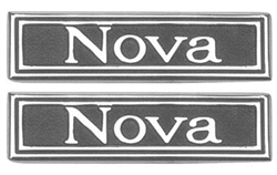 "1969 - 1972 Nova Door Panel Emblems ""Nova"", Pair"