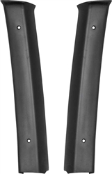1968 - 1972 Nova Interior B Pillar Post Quarter Panels Moldings, Pair