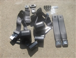 "1968 - 1973 Nova Bucket Seat Belts Set, Retractable Shoulder 3 pt. Front, Chrome Buckles with ""GM Mark of Excellence"" Buttons and Choice of Belts Color"