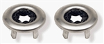 1968 - 1975 Chevelle Interior Door Lock Knob Ferrules Bezels