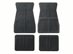 1973 - 1981 Chevelle and Nova Floor Mats Set, Original GM Style, Black