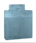 1968 - 1972 Nova Floor Mats Set, Front and Rear, Rubber with Grippers, Light Blue with Bowtie, OE Style