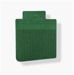 1968 - 1972 Nova Floor Mats Set, Front and Rear, Rubber with Grippers, Dark Green with Bowtie, OE Style