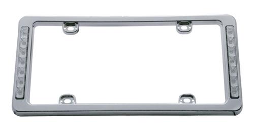 Rear License Plate Frame with Back Up LED Lights