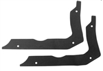 1966 - 1967 Chevelle Quarter Panel Extension to Body Seals, Pair