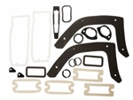 1968 Chevelle Exterior Gaskets Set, Paint and Light Lenses, 2 Door Hardtop & Convertible