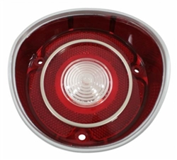 1971 Chevelle back up lamp lens (left, Malibu & Super Sport) (with trim), Each