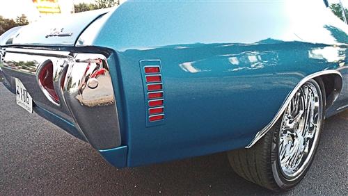 1970-1972 Chevelle Left Rear Wheel Opening Molding,